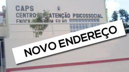 CAPS Enock Valentim Filho mudou de endereço temporariamente