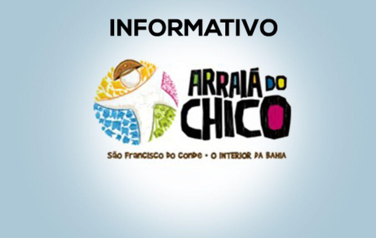 Secretaria de Turismo divulga lista de casas disponíveis para aluguel no Arraiá do Chico