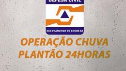 Operação Chuva: Defesa Civil vai atuar em regime de plantão 24h