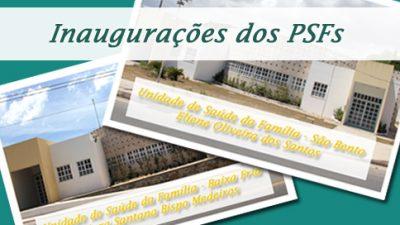 A Prefeitura inaugura duas modernas Unidades de Saúde da Família no município