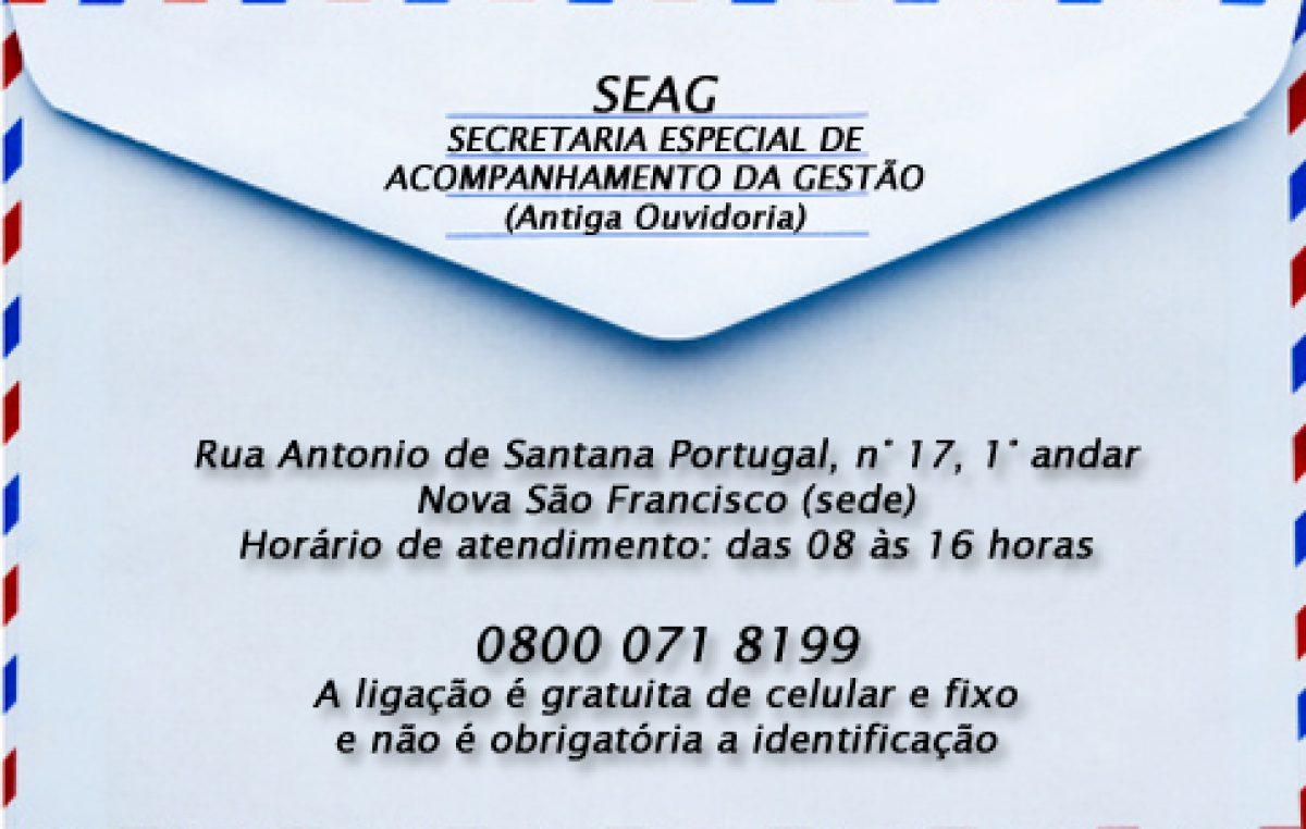 SEAG muda de endereço a partir desta segunda-feira, dia 22