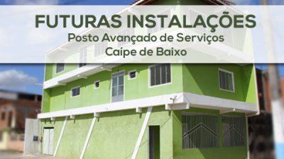 Caípe ganhará Posto Avançado de Serviços oferecido pela Prefeitura