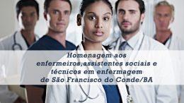Saúde homenageia enfermeiros, assistentes sociais e técnicos em enfermagem