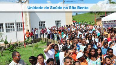 Prefeitura inaugura PSF de São Bento