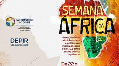 Dia da África será comemorado com semana de atividades em São Francisco do Conde