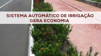 Sistema automático de irrigação vai gerar 300% de economia de água