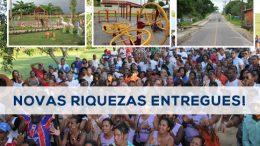 São Francisco do Conde: prefeitura inaugura estrada, praça e reforma escola