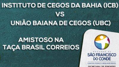 Atletas com deficiência visual fazem amistoso na Taça Brasil Correios