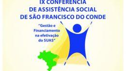 IX Conferência Municipal da Assistência Social está marcada para os dias 01 e 02 de agosto