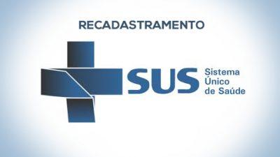 Secretaria da Saúde recadastra usuários do cartão SUS