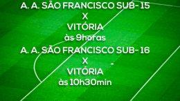 Equipes da A. A. São Francisco jogam amistoso contra o Vitória