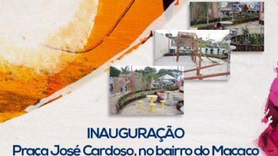 Prefeitura inaugura na sexta-feira, 30, a Praça José Cardoso, na Fazenda Macaco