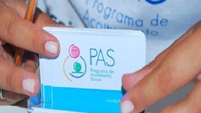 Pagamento aos beneficiários do PAS será efetuado nesta quinta-feira, 03