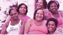 Poderosas de São Francisco do Conde fazem panfletagem sobre câncer de mama