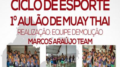 SECEL promove aulão de integração na modalidade Muay Thai
