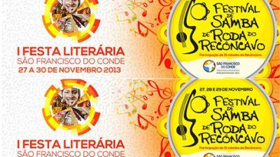 Cidade Literária e do Samba acontece de 27 a 30 de novembro