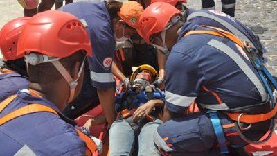 SAMU faz simulado realista de acidentes e atrai pessoas à Praça da Indepêndencia