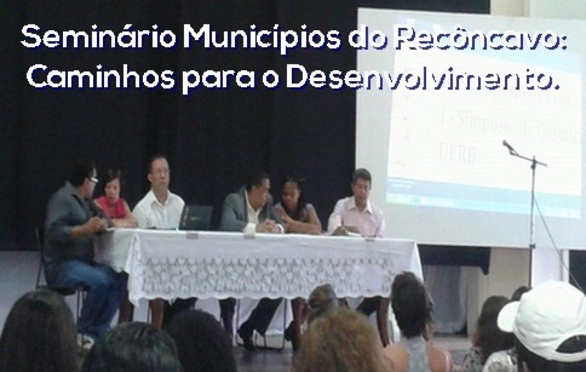 Representantes da SEAP participaram de Seminário em Cruz das Almas