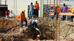 Prédio que vai fornecer cursos profissionalizantes está em construção