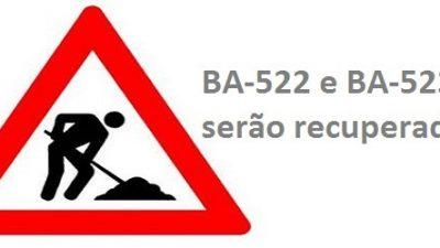 BA-522 e BA-523 serão recuperadas graças à parceria da Prefeitura com o Derba