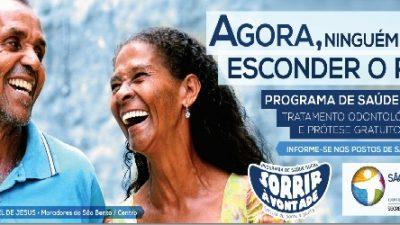 Programa Sorrir à Vontade traz tratamento odontológico gratuito