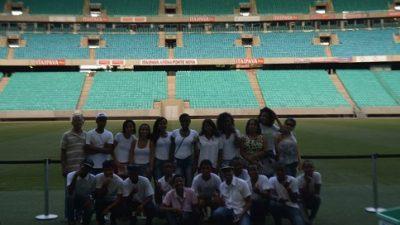 CRAS do Caípe realiza visita na Arena Fonte Nova