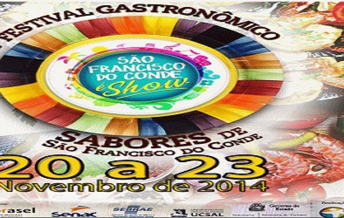 Lançamento do I Festival Gastronômico do município será nesta quinta (13)