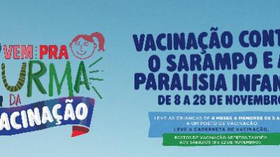 Vacinação contra a Paralisia Infantil termina neste sábado (29)