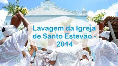 Bairro de Santo Estevão comemorou dia do padroeiro com cortejo de baianas, lavagem da igreja e corrida de canoa