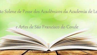 Academia de Letras e Artes de São Francisco do Conde fará Sessão Solene de Posse dos Acadêmicos