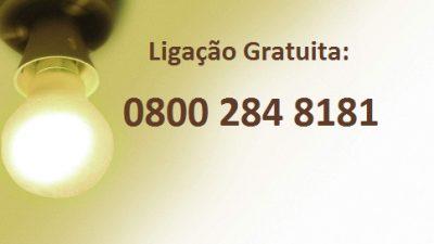 Ligação gratuita para reclamação sobre postes de iluminação danificados – 0800 284 8181