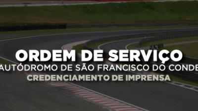 Credenciamento de imprensa para evento da assinatura de ordem de serviço do Autódromo de São Francisco do Conde