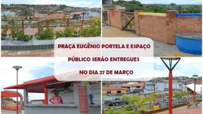 Prefeitura entrega Praça Eugênio Portela e Espaço Público Revitalizado, no dia 27 de março