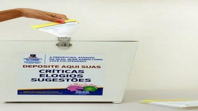 SEAG disponibiliza Urnas de Avaliação dos atendimentos nas secretarias e departamentos do município