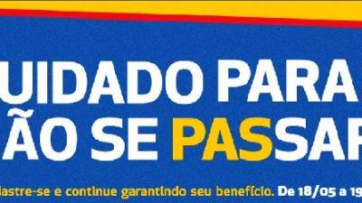 Recadastramento de beneficiários do PAS termina nesta segunda-feira (20)