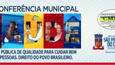 Conferência Municipal de Saúde elegeu os delegados que vão participar da Conferência Estadual