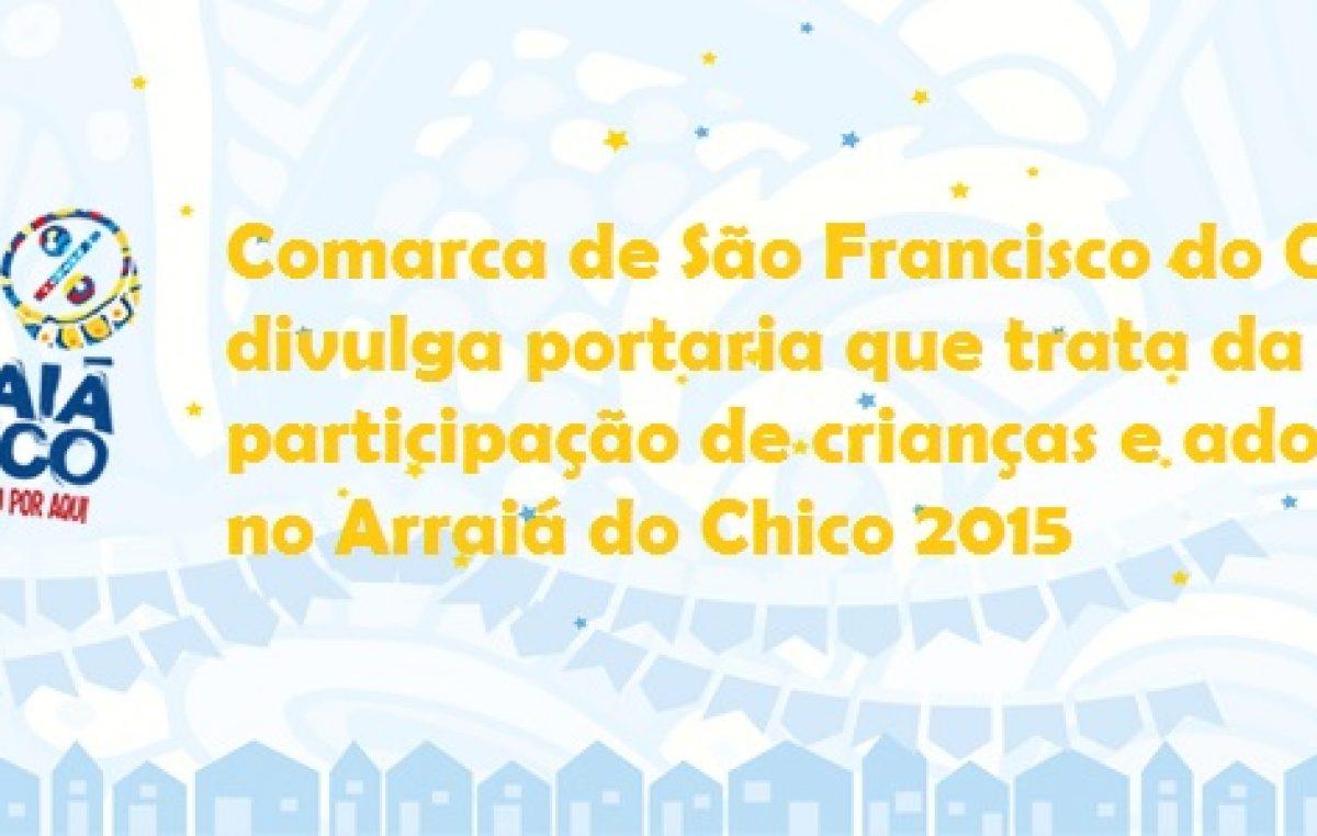 Comarca de São Francisco do Conde divulga portaria que trata da participação de crianças e adolescentes durante a festa de São João