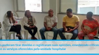 Hospital Célia Almeida Lima lançou Programa de Acolhimento às Familias dos Pacientes Internados na unidade