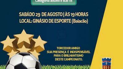 Campeonato de Futsal 2015: estreia começou com empate e vitória da equipe do Potencial