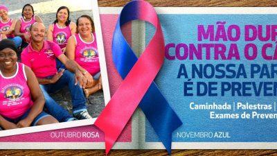 Outubro Rosa: Mulheres recebem orientações e tiram dúvidas com profissionais de saúde