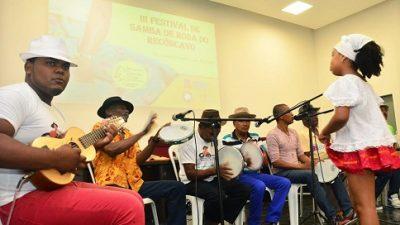 A 3ª edição do Festival de Samba de Roda do Recôncavo Baiano teve mesa redonda na quinta, 19