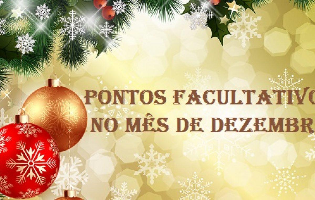 Confira os pontos facultativos do mês de dezembro por conta dos festejos de fim de ano