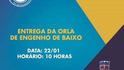 Prefeitura entregará à comunidade, nesta sexta (22), a orla de Engenho de Baixo totalmente reformada