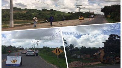 São Francisco do Conde: Operação Tapa Buraco na BA-522 traz melhorias à pavimentação asfáltica