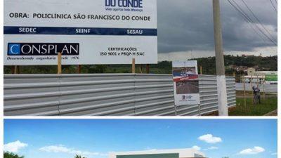 TranSFormar: construção da primeira Policlínica pública do município está em ritmo acelerado