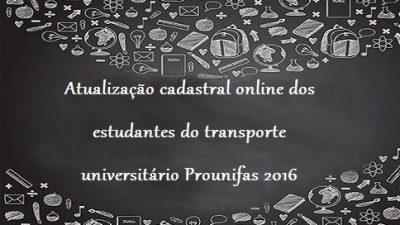 Prounifas convoca os usuários do transporte universitário para uma atualização cadastral online