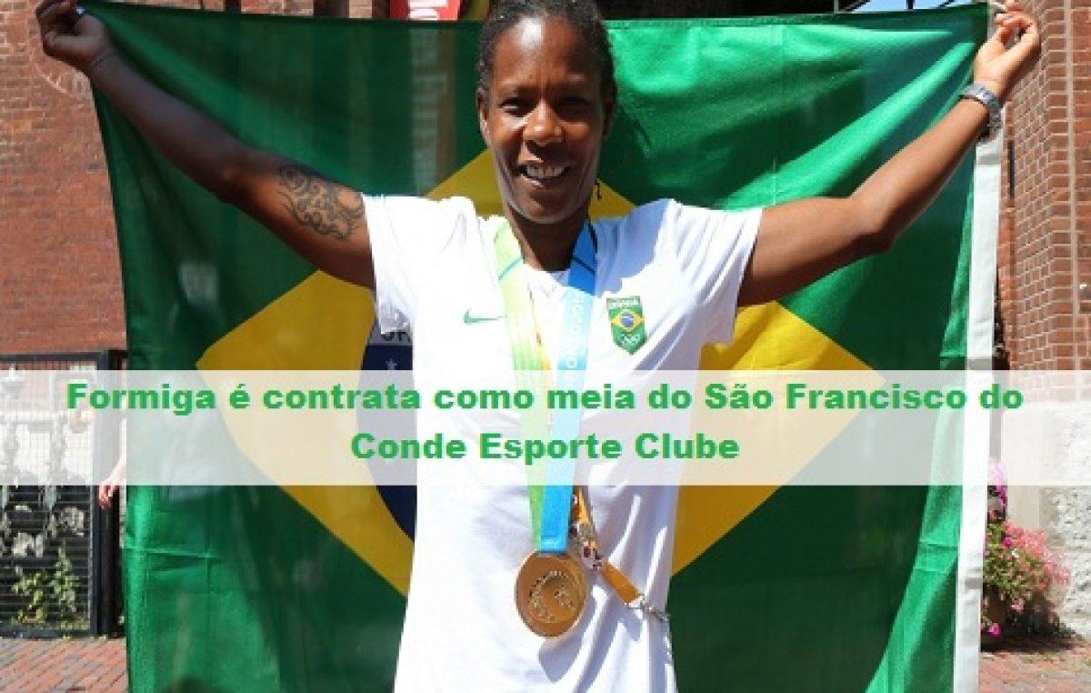 Futebol feminino: São Francisco do Conde Esporte Clube recebe a atleta Formiga