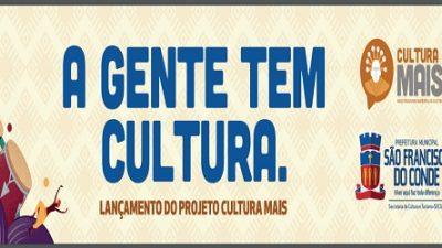Lançamento do Cultura Mais será dia 20 de maio
