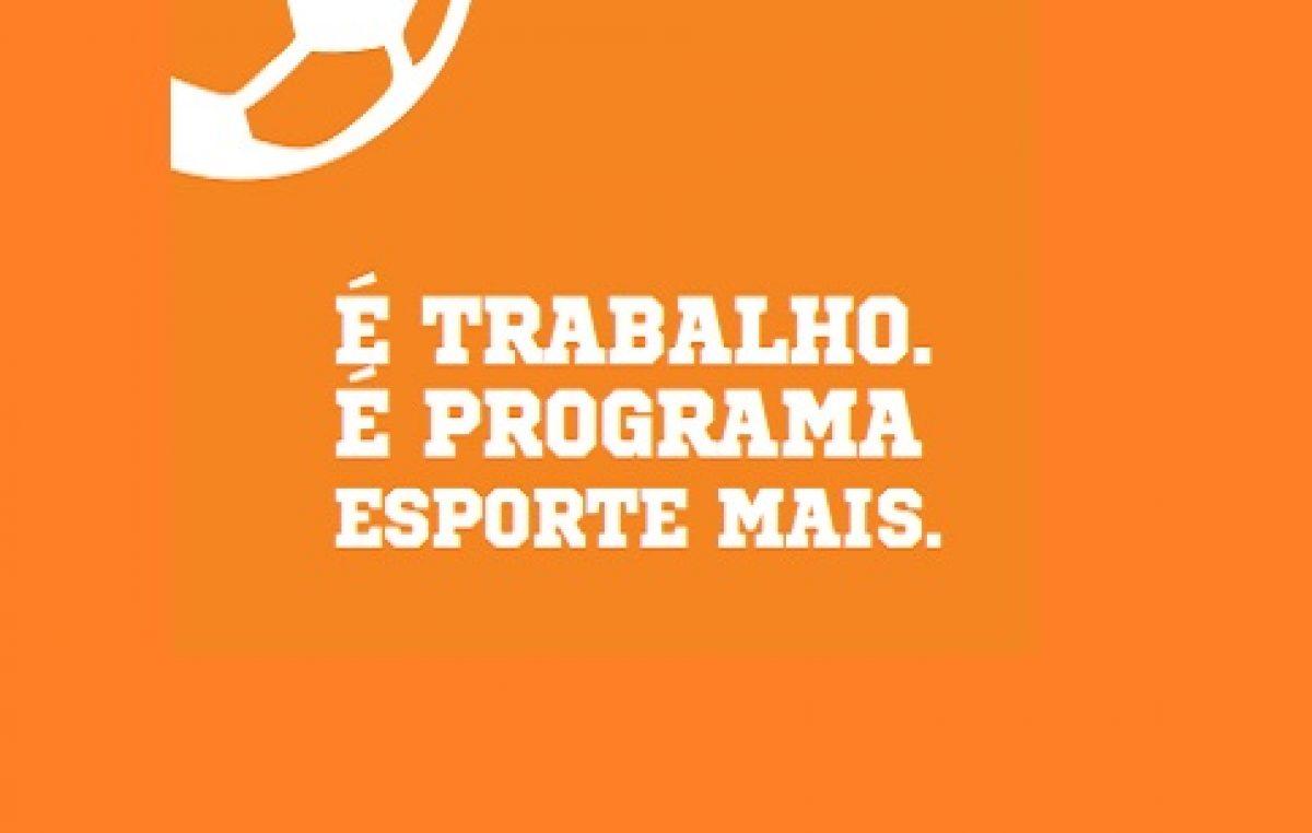 Programa Esporte Mais foi lançado na manhã desta quarta-feira, 01 de junho