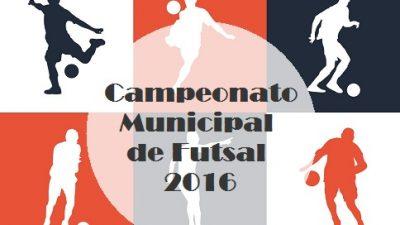 7ª rodada do Campeonato Municipal de Futsal acontecerá nesta terça-feira (31)